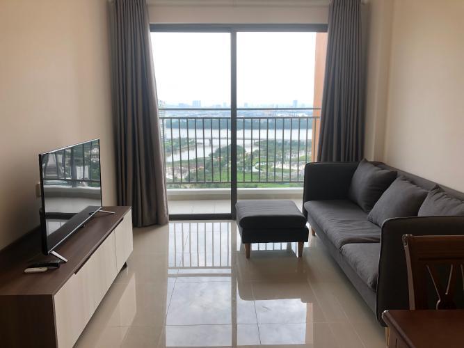 Phòng khách căn hộ The Sun Avenue, Quận 2 Căn hộ The Sun Avenue tầng 20 view sông thông thoáng, đầy đủ nội thất.
