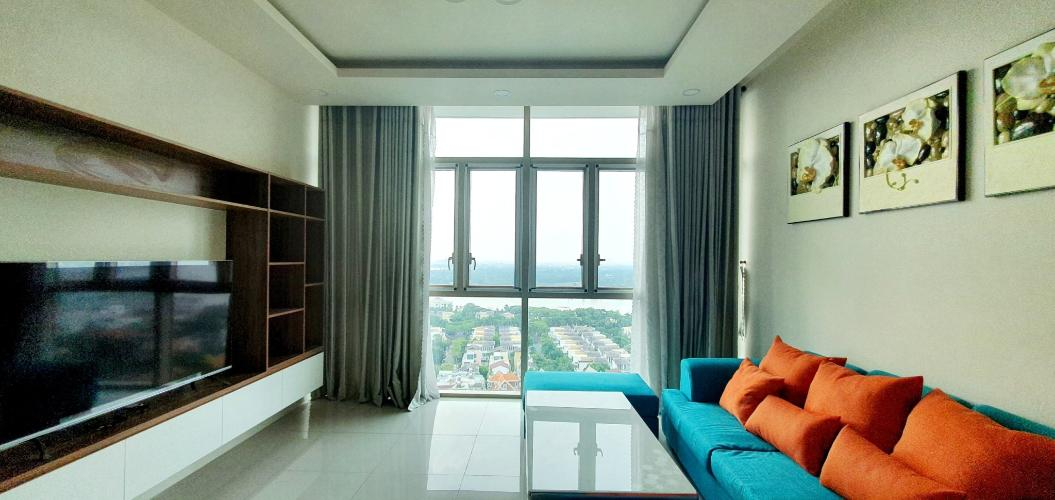 phòng khách căn hộ The Vista An Phú Căn hộ The Vista An Phú tầng 11 bàn giao nội thất đầy đủ