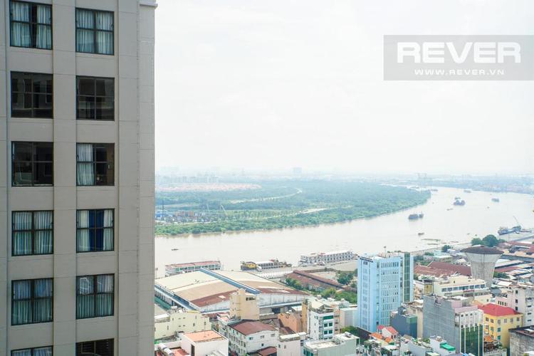 View căn hộ The Tresor, Quận 4 Căn hộ The Tresor tầng 26 diện tích 65m2, đầy đủ nội thất.