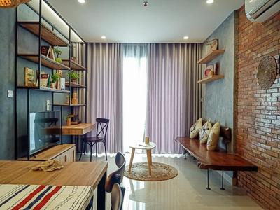 Căn hộ Vinhomes Grand Park tầng 20 thiết kế 2 phòng ngủ, đầy đủ nội thất.