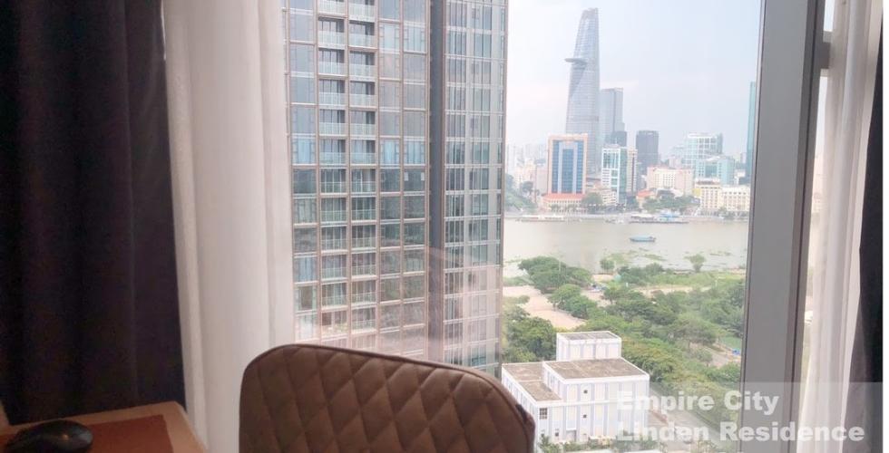 View căn hộ Empire City, Quận 2 Căn hộ có 1 phòng ngủ Empire City tầng 20, đầy đủ nội thất cao cấp.