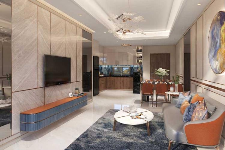 Phòng khách căn hộ Opal Boulevard, Huyện Dĩ An Căn hộ Opal Boulevard tầng 10 gồm 3 phòng ngủ, nội thất cơ bản.
