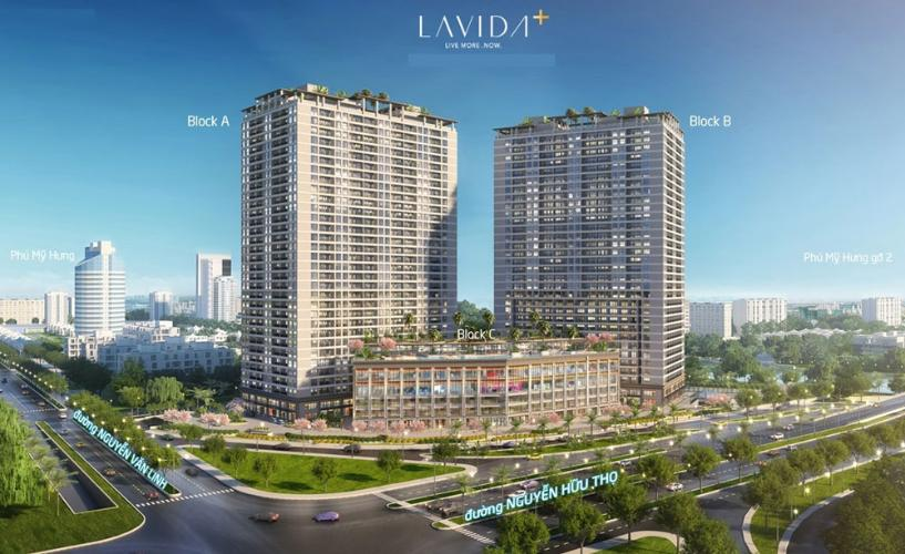 Phối cảnh căn hộ Officetel Lavida Plus Officetel Lavida Plus quận 7, diện tích 37m2 - 1 phòng ngủ, không có nội thất.