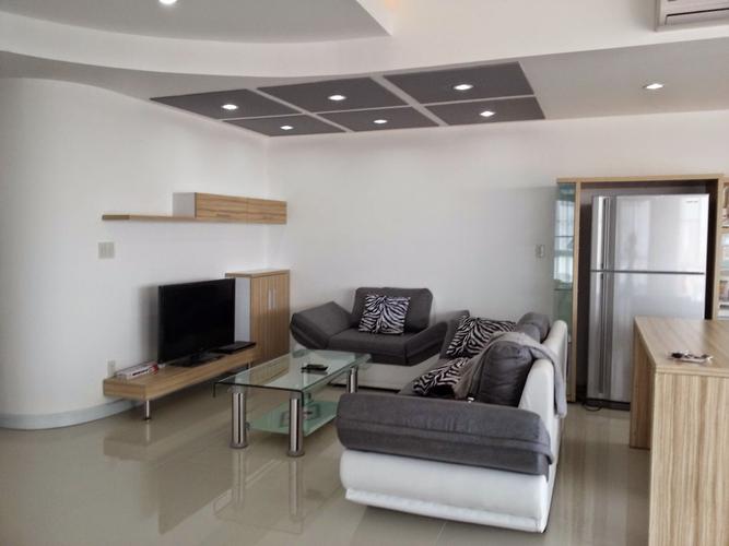 Phòng Khách căn hộ Riverpark Residence, Quận 7 Căn hộ RiverPark Residence tầng 2 tiện di chuyển, đầy đủ nội thất.