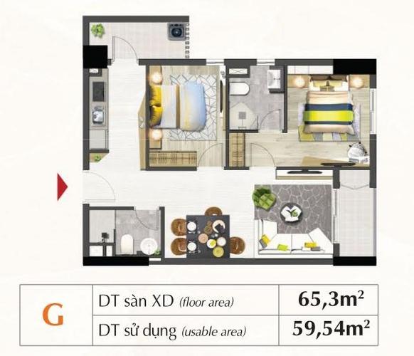 Mặt bằng căn hộ Căn hộ Saigon South Residence tầng 8, thiết kế hiện đại đầy đủ nội thất.
