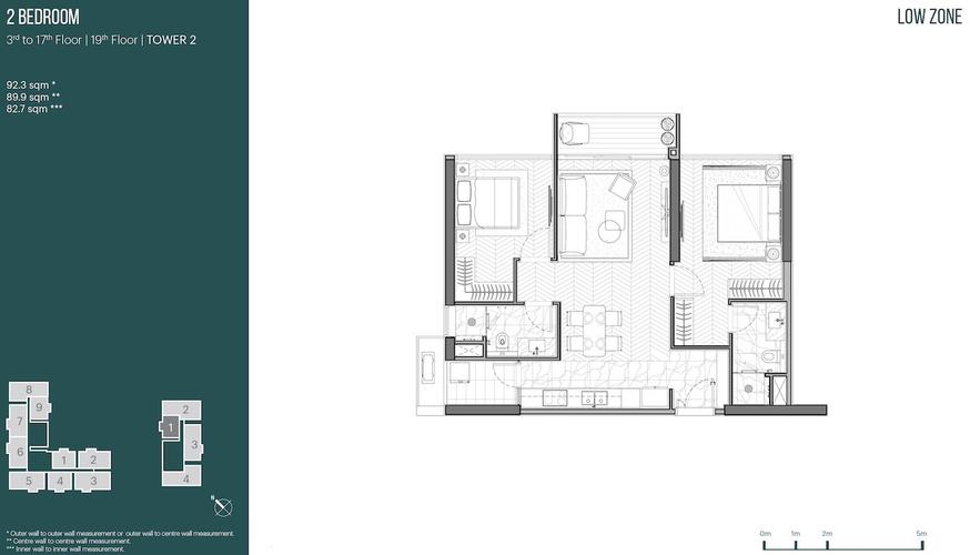 Căn hộ Empire City tầng 19 thiết kế sang trọng, bàn giao nội thất cơ bản.