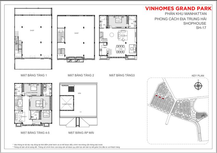 Bản vẽ Shophosue Vinhomes Grand Park, Quận 9 Shophouse The Manhattan- Vinhomes Grand Park, bàn giao thô không nội thất.