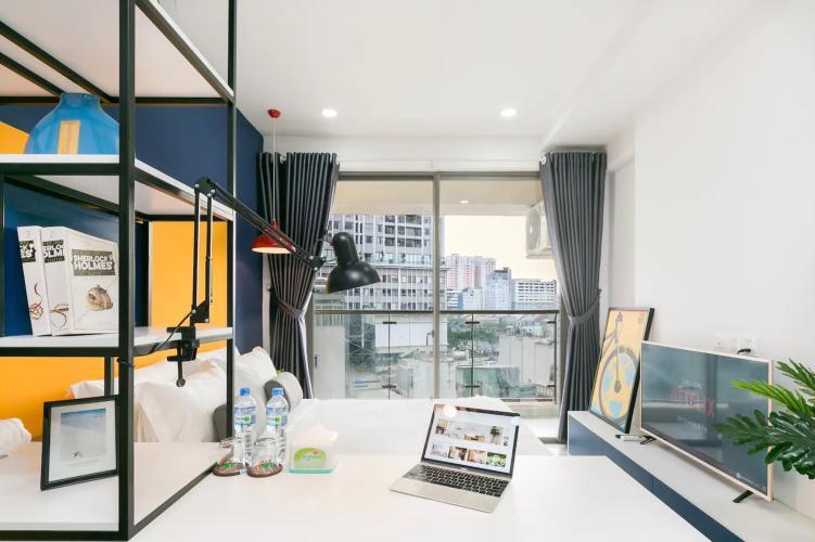 Phòng khách căn hộ MASTERI MILLENNIUM Bán căn hộ Masteri Millennium 1PN, tầng thấp, đầy đủ nội thất, view trực diện hồ bơi