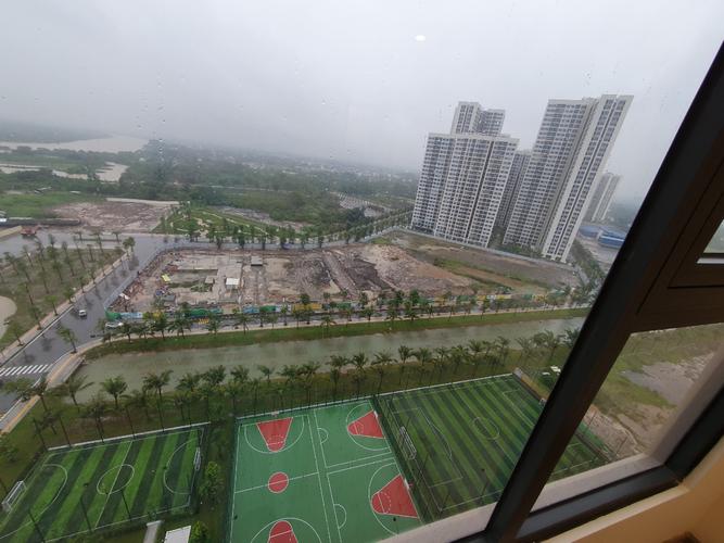 View căn hộ Vinhomes Grand Park, Quận 9 Căn hộ Vinhomes Grand Park tầng 14 view đón gió thoáng mát, nội thất cơ bản.