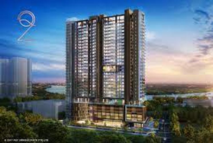 Căn hộ Q2 Thảo Điền, Quận 2 Căn hộ Q2 Thảo Điền tầng 7 diện tích 53m2, bàn giao không có nội thất.