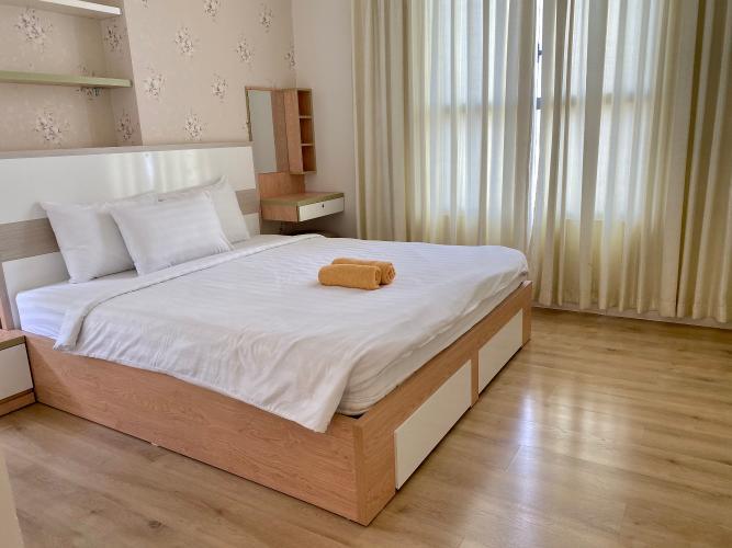 Phòng ngủ Icon 56, Quận 4 Căn hộ Icon 56 tầng cao, ban công hướng Tây Nam view thành phố.
