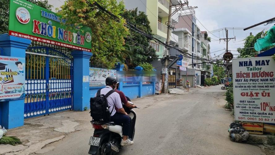 Đường nhà phố Nguyễn Văn Linh, Quận 7 Nhà phố hướng Bắc, đường nhựa rộng 20m, thông thoáng.
