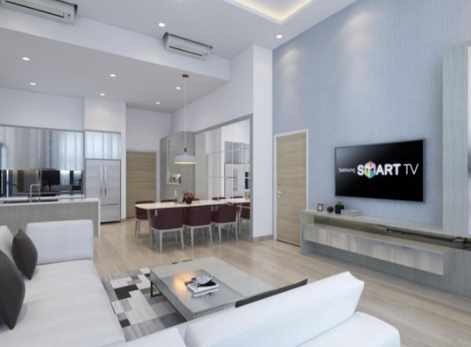Phòng khách căn hộ Riviera Point Căn hộ Riviera Point tầng 3A sàn lót gỗ, bàn giao nội thất đầy đủ.