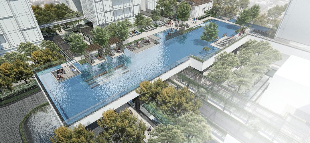 Tiện ích căn hộ Empire City, Quận 2 Căn hộ Empire City tầng 10 diện tích 98.34m2, nội thất cơ bản.