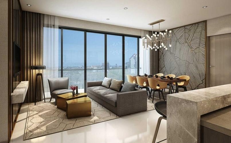 Nhà mẫu căn hộ Empire City, Quận 2 Căn hộ Empire City tầng 16 diện tích 63.79m2, nội thất cơ bản.