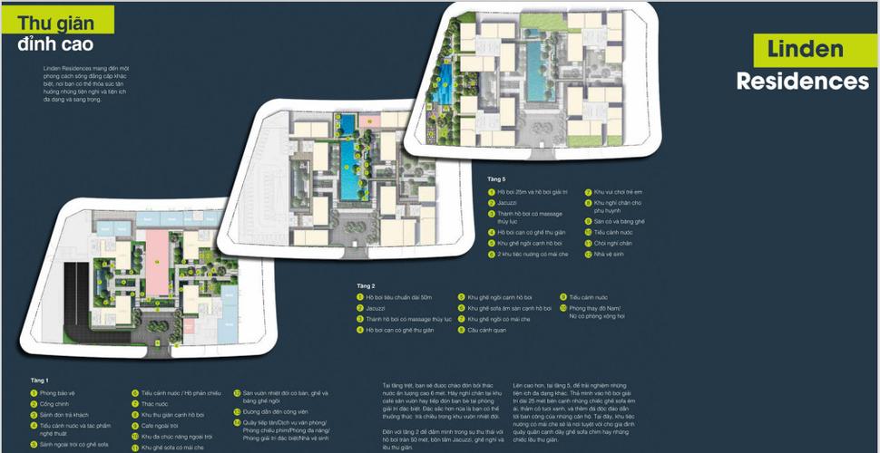 Mặt bằng chung căn hộ Empire City, Quận 2 Căn hộ Empire City tầng 3 thiết kế 3 phòng ngủ, nội thất cơ bản.
