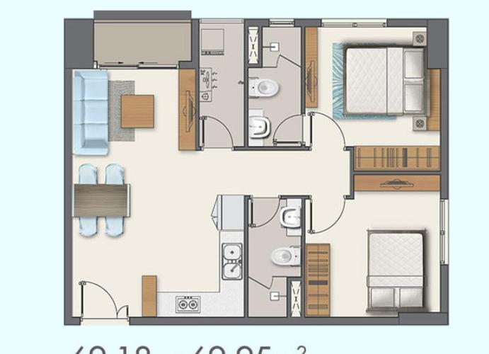Căn hộ cao cấp Q7 Boulevard tầng 9, bàn giao nội thất cơ bản.
