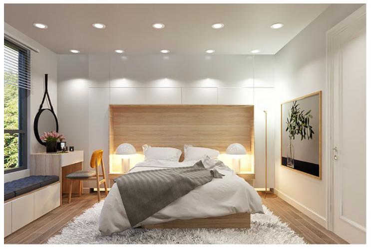 nhà mẫu căn hộ Topaz Elite quận 8 Căn hộ tầng 21 Topaz Elite không có nội thất, cửa chính hướng Đông Nam