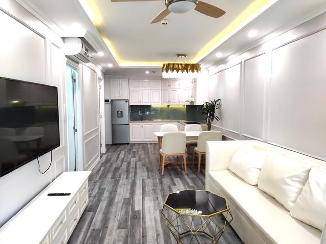 Căn hộ Saigon South Residence tầng 22 có 2 phòng ngủ, đầy đủ nội thất.