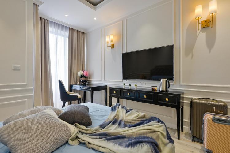Studio RiverGate Residence tầng 17 view thoáng mát, đầy đủ nội thất.
