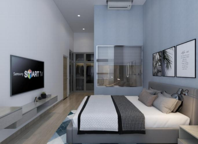 Phòng ngủ căn hộ Riviera Point Căn hộ Riviera Point tầng 3A sàn lót gỗ, bàn giao nội thất đầy đủ.