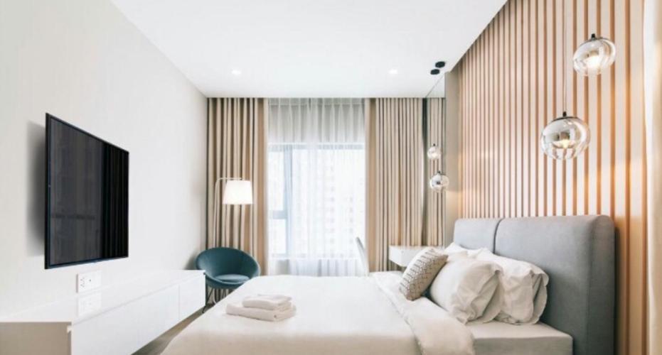 phòng ngủ căn hộ New City Căn hộ New City Thủ Thiêm tầng 16, đầy đủ nội thất.