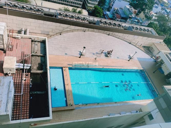View căn hộ Hùng Vương Plaza, Quận 5 Căn hộ tầng trung Hùng Vương Plaza diện tích 132m2, đầy đủ nội thất.