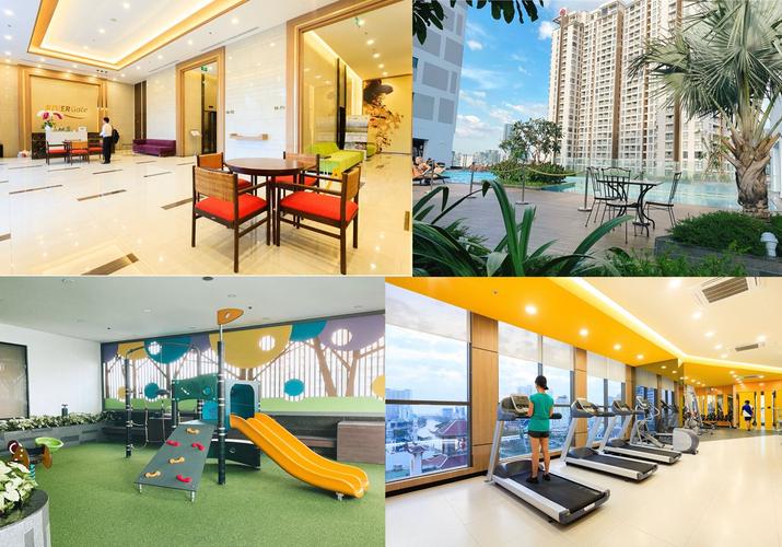 Tiện ích căn hộ RiverGate Residence, Quận 4 Căn hộ RiverGate Residence tầng 20 thiết kế 1 phòng ngủ, đầy đủ nội thất.